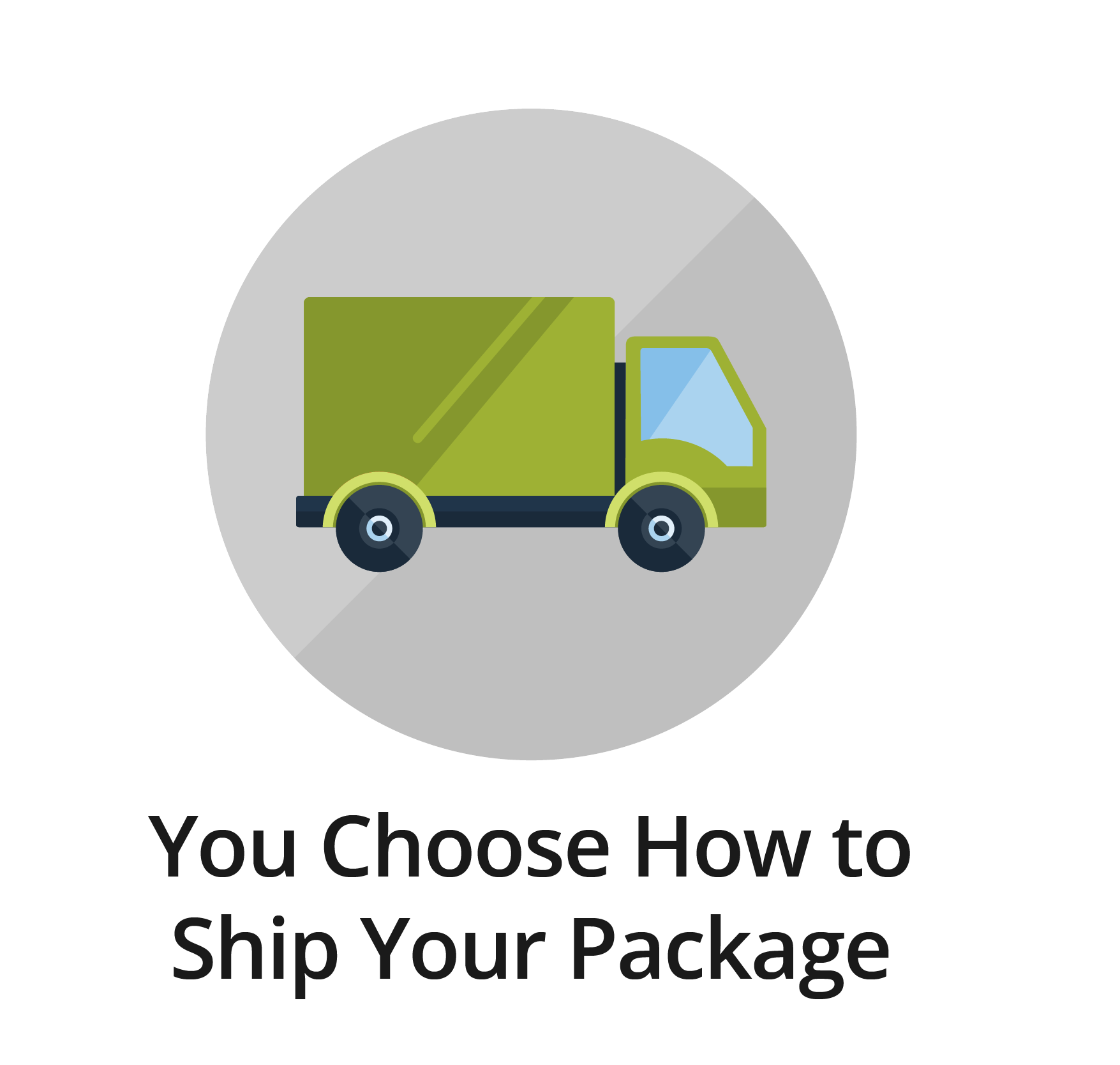 You Choose How to Ship Your Package